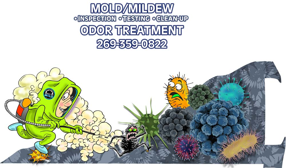 mold mildew inspection testing cleanup odor treatment 269-359-0822